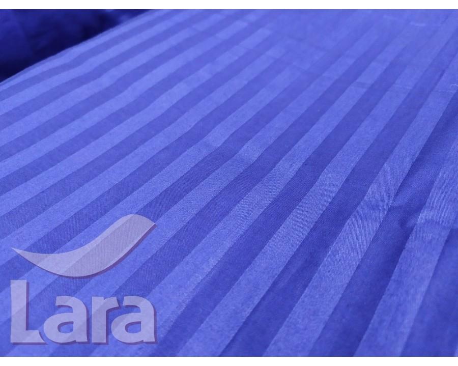 Постельное белье LARA сатин-страйп Blue d13004d2 двуспальное