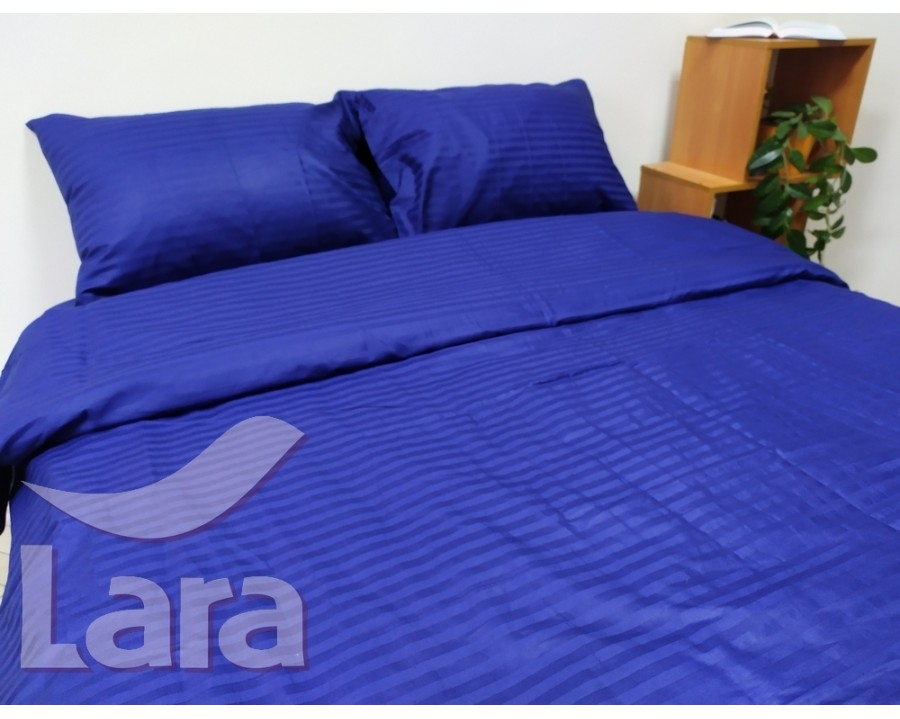 Постельное белье LARA сатин-страйп Blue d13004e2 евро