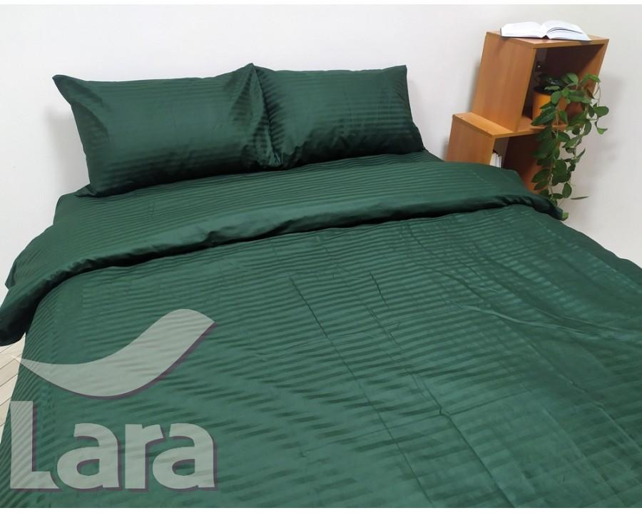 Постельное белье LARA сатин-страйп Green d13037p2 полуторное