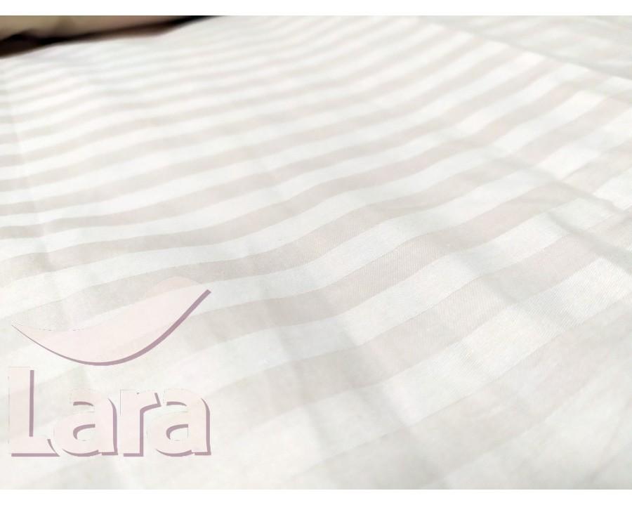 Постельное белье LARA сатин-страйп Pudra d13008p2 полуторное