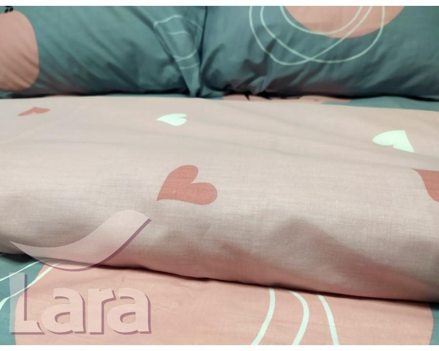 Постельное белье LARA бязь d11175d двуспальное