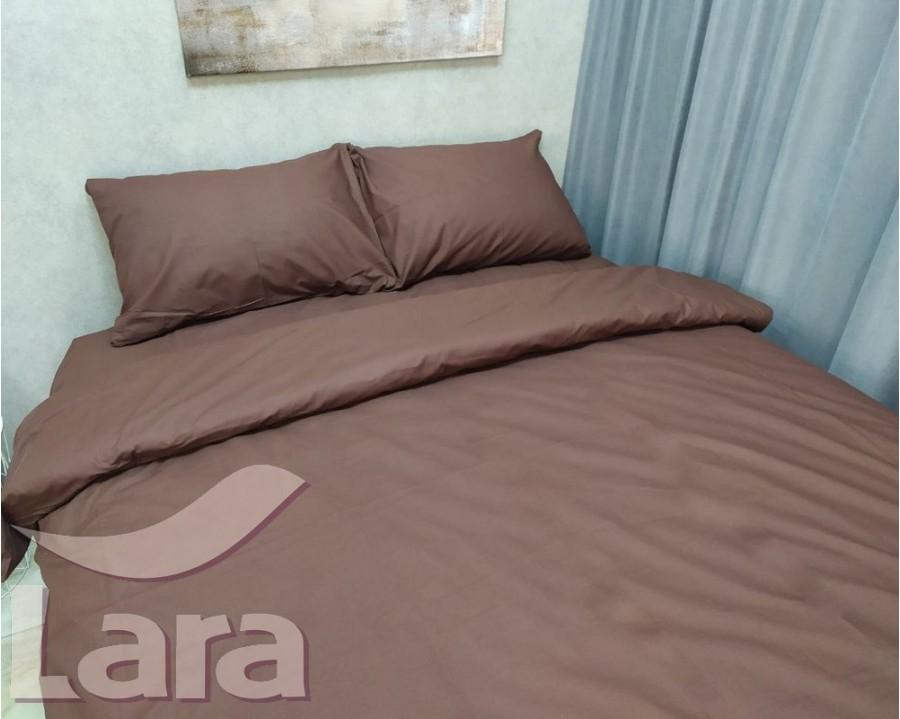 Постельное белье LARA бязь d11062p2 Brown полуторное