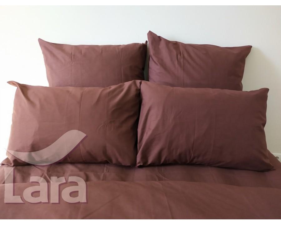 Постільна білизна LARA бязь d11062d2 Brown двоспальна