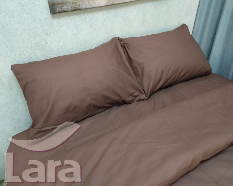 Постельное белье LARA бязь d11062e2 Brown евро