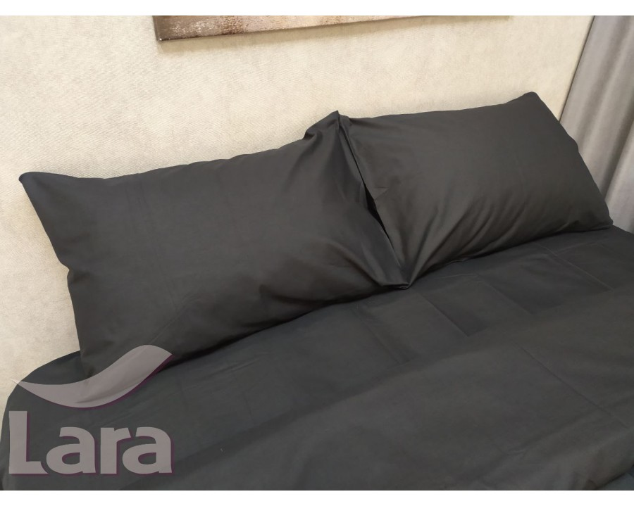 Постільна білизна LARA бязь d11069p2 Black полуторна