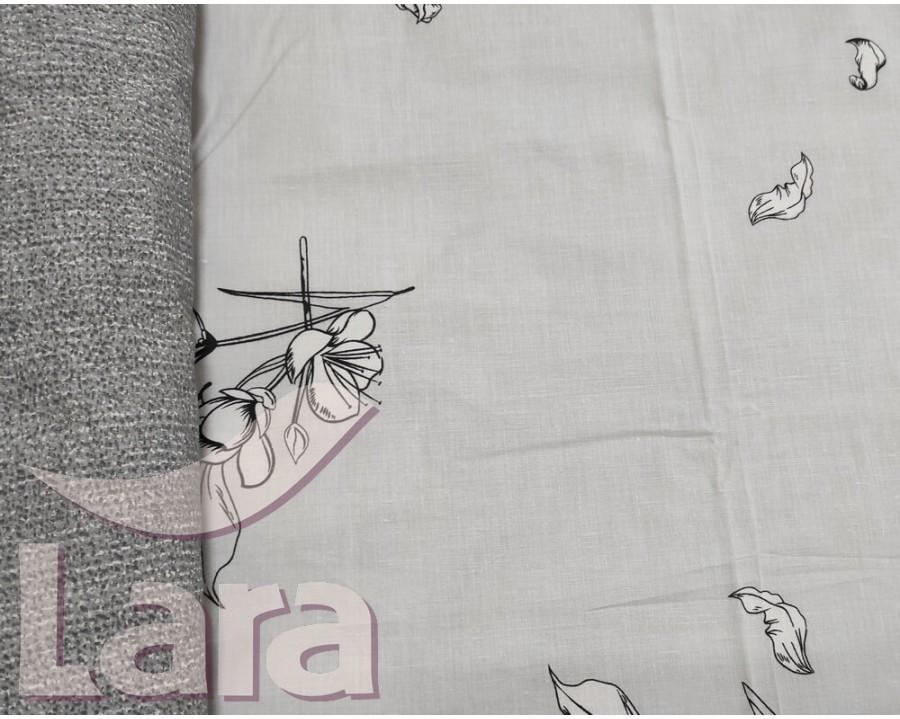 Постільна білизна LARA бязь d11180e євро
