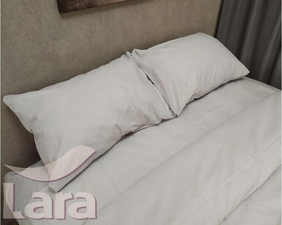 Постельное белье LARA бязь d11193d Light grey двуспальное