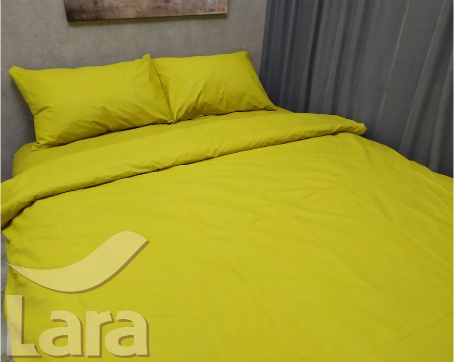 Постельное белье LARA бязь d11192s Yellow семейное