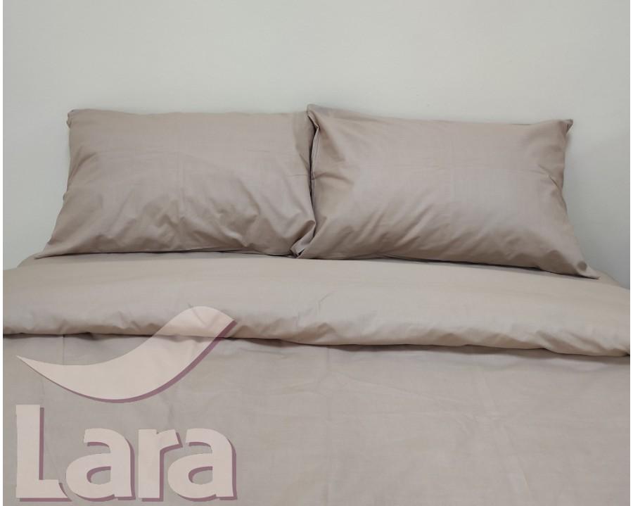 Постільна білизна LARA бязь d11190d Coffee двоспальна