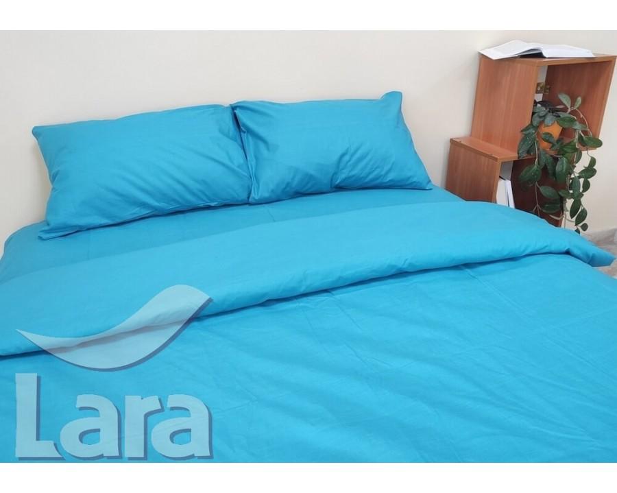Постільна білизна LARA бязь d11189e Turquoise євро
