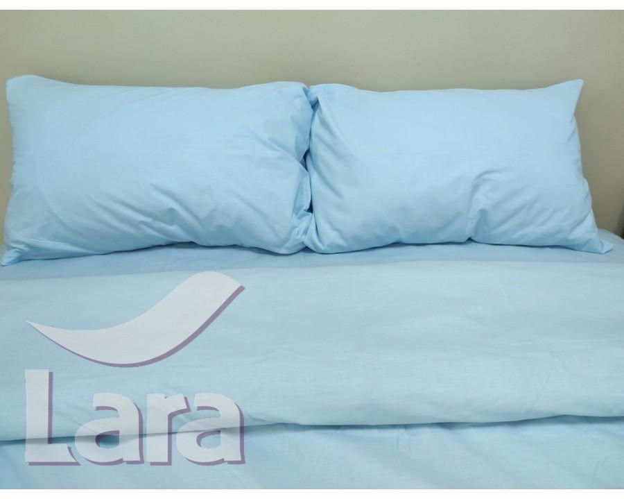 Постільна білизна LARA бязь d11182e Blue євро