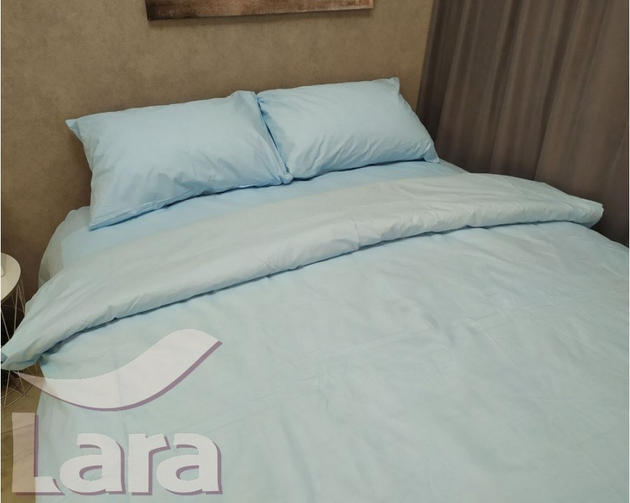 Постільна білизна LARA бязь d11182s Blue сімейна