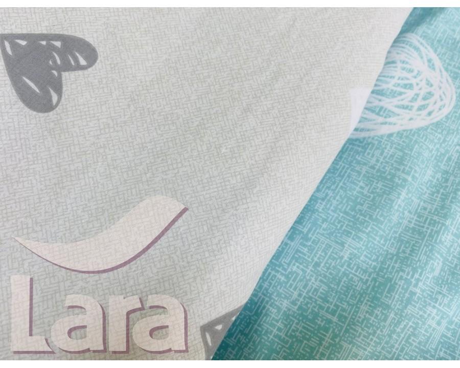 Постельное белье LARA бязь d11167p полуторное 2 наволочки в комплекте