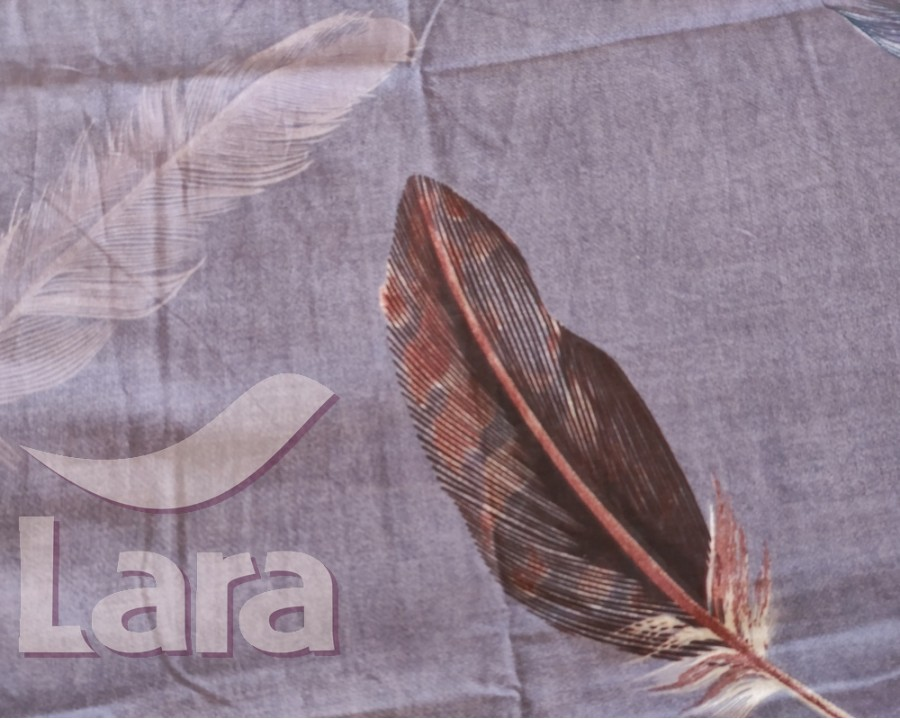 Постельное белье LARA бязь d11166e евро 4 наволочки в комплекте