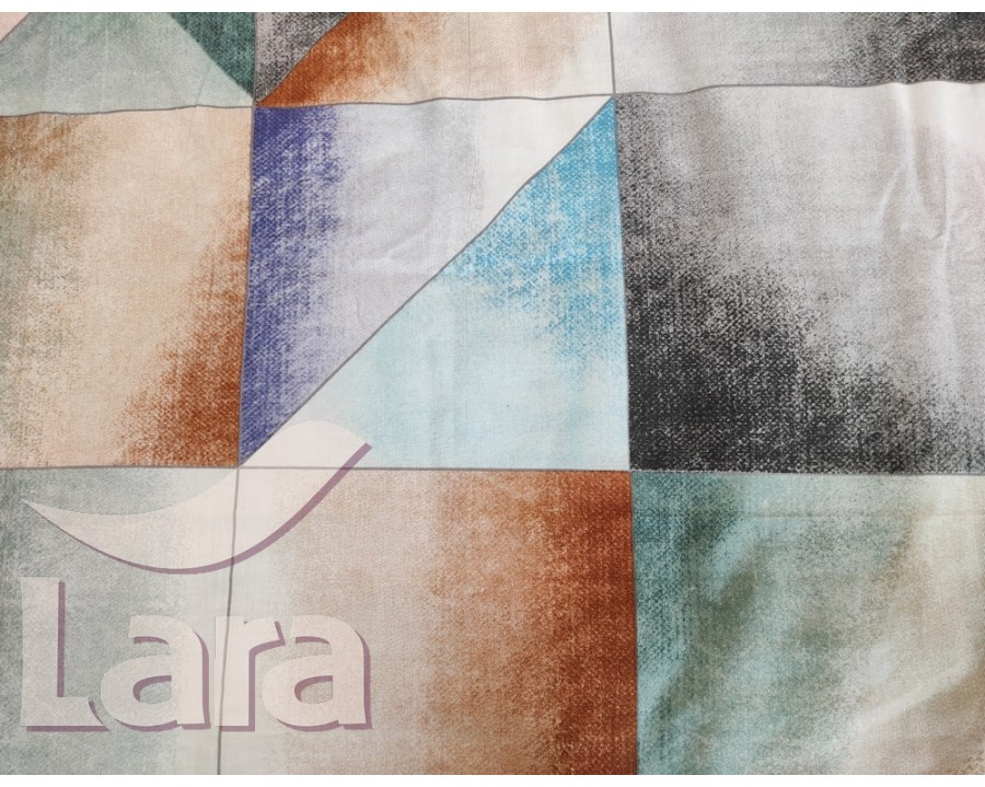 Постільна білизна LARA бязь d11165p полуторна 2 наволочки в комплекті