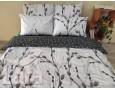 Постельное белье LARA бязь d11164d двуспальное 4 наволочки в комплекте