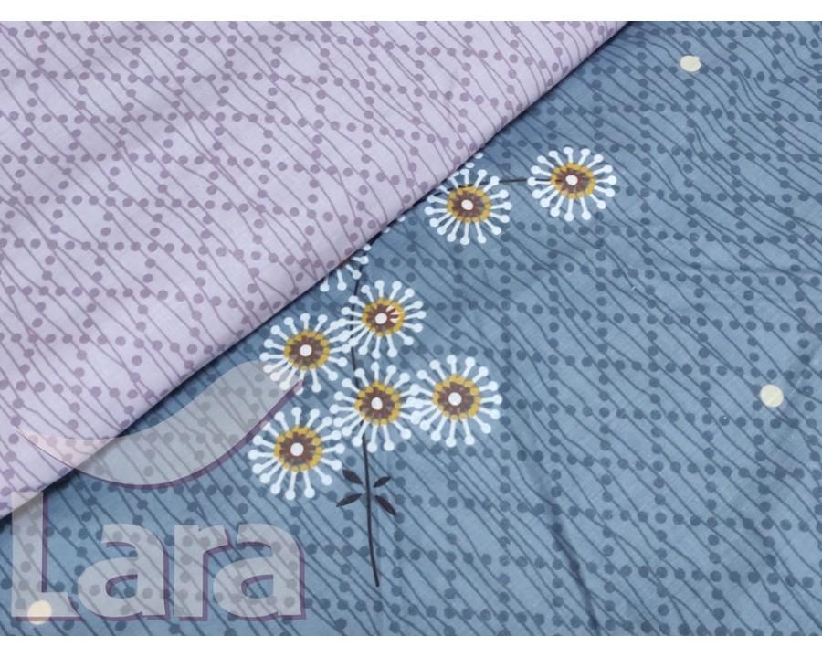 Постельное белье LARA бязь d11162p полуторное 2 наволочки в комплекте