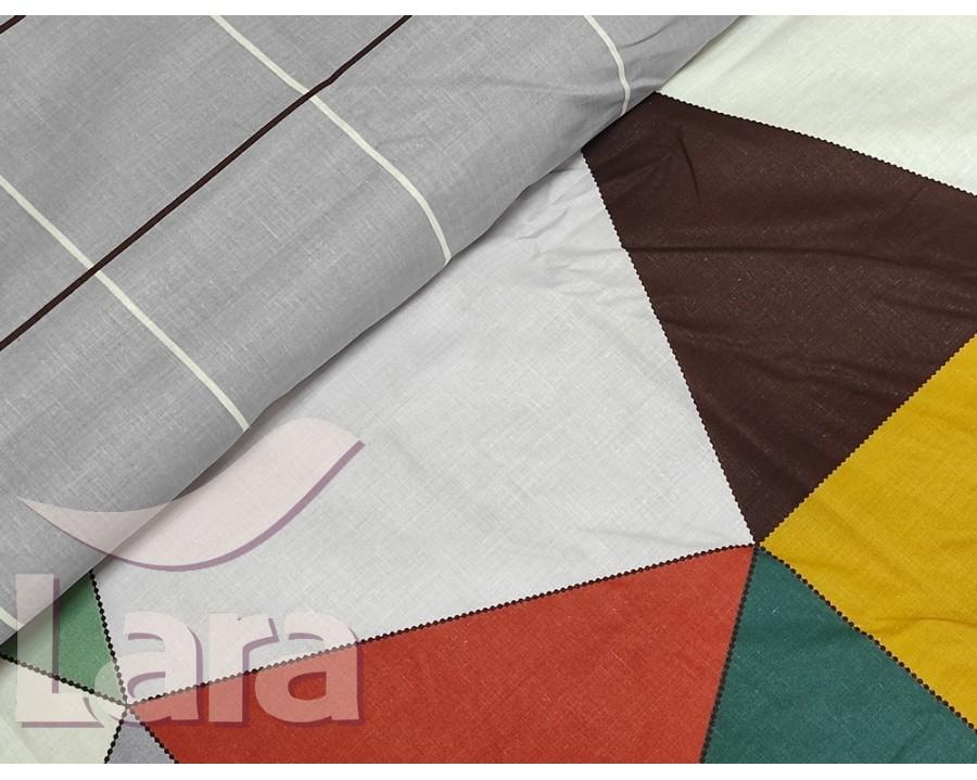 Постільна білизна LARA бязь d11158p полуторна 2 наволочки в комплекті