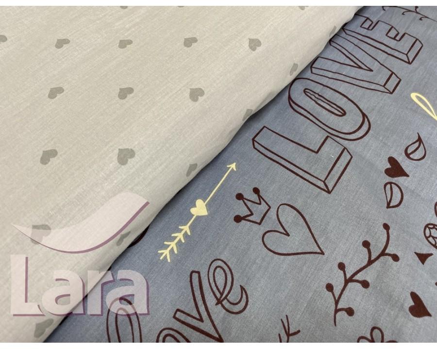 Постельное белье LARA сатин d13081p полуторное