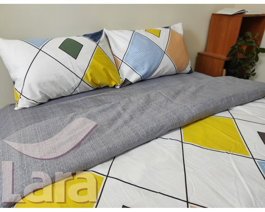 Постельное белье LARA сатин d13068e евро