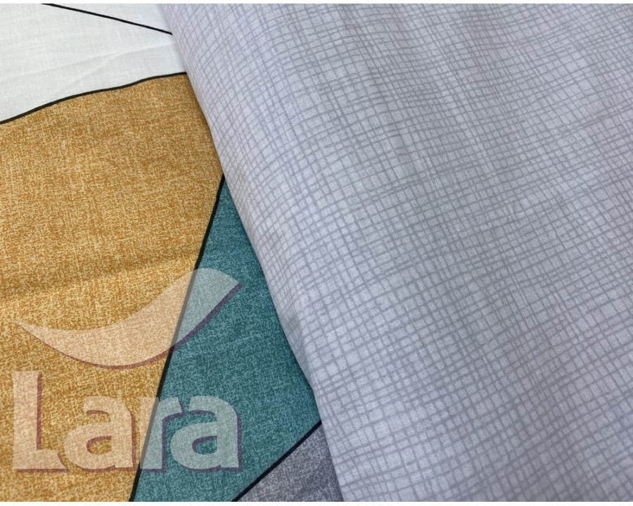 Постельное белье LARA ранфорс d12028e евро 4 наволочки в комплекте