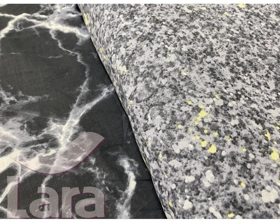 Постельное белье LARA ранфорс d12025s семейное 4 наволочки в комплекте