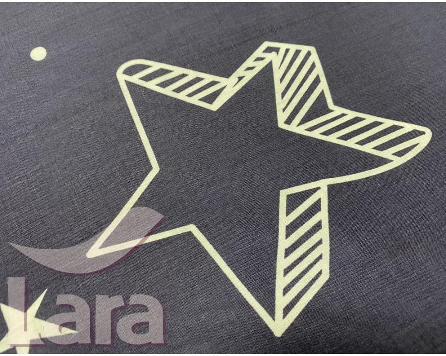 Постельное белье LARA ранфорс d12024d двуспальное 4 наволочки в комплекте