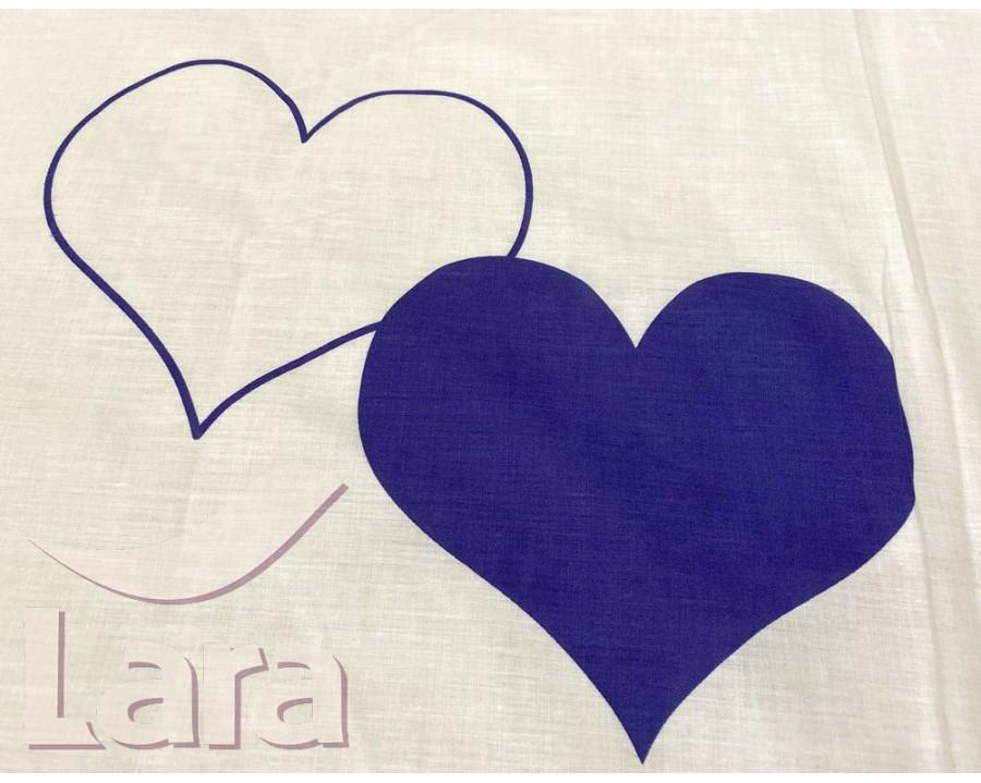 Постельное белье LARA ранфорс d12022p полуторное 2 наволочки в комплекте