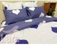 Постельное белье LARA ранфорс d12022s семейное 4 наволочки в комплекте