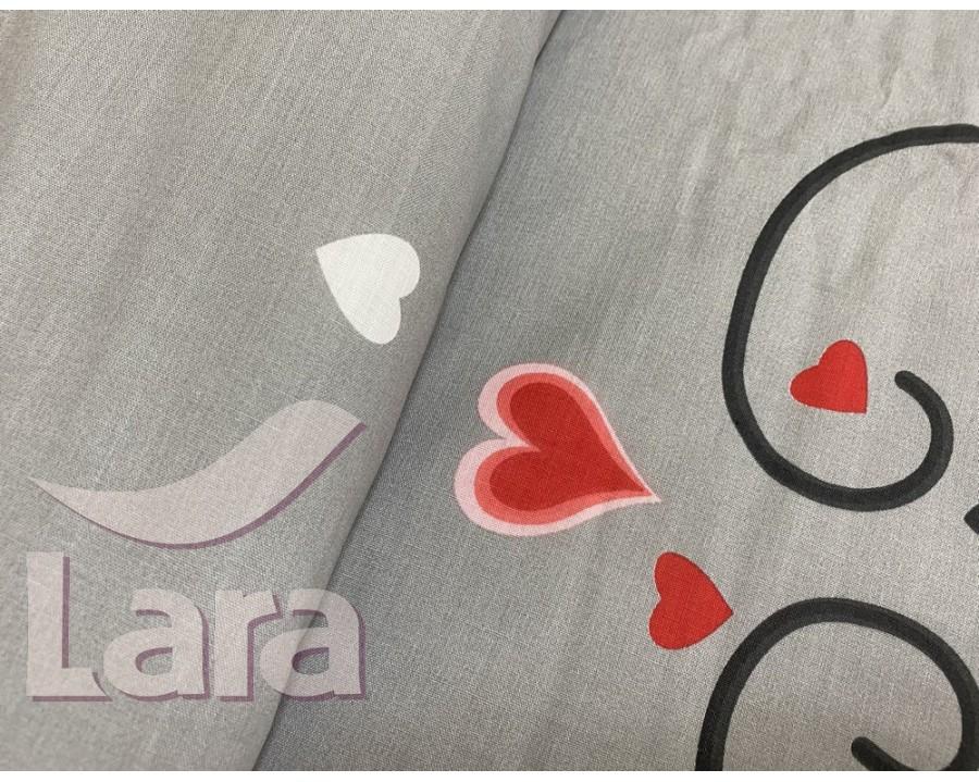 Постельное белье LARA ранфорс d12021d двуспальное 4 наволочки в комплекте