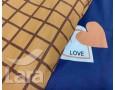 Постельное белье LARA ранфорс d12019d двуспальное 4 наволочки в комплекте