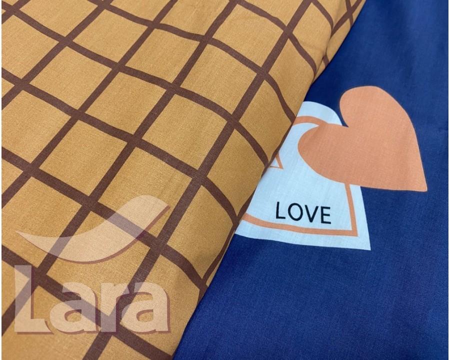 Постельное белье LARA ранфорс d12019e евро 4 наволочки в комплекте