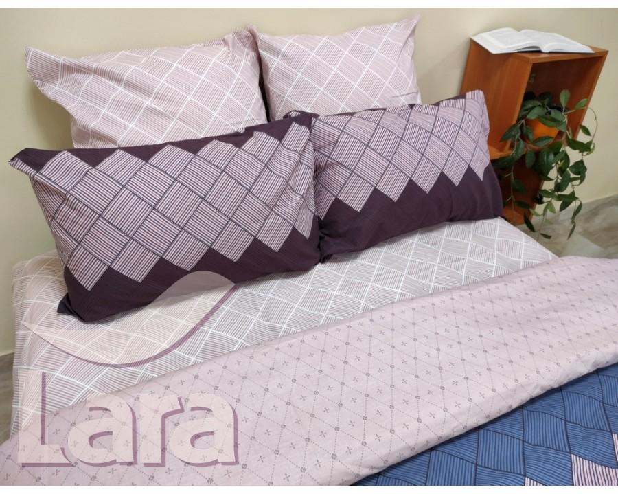 Постельное белье LARA ранфорс d12018p полуторное 2 наволочки в комплекте
