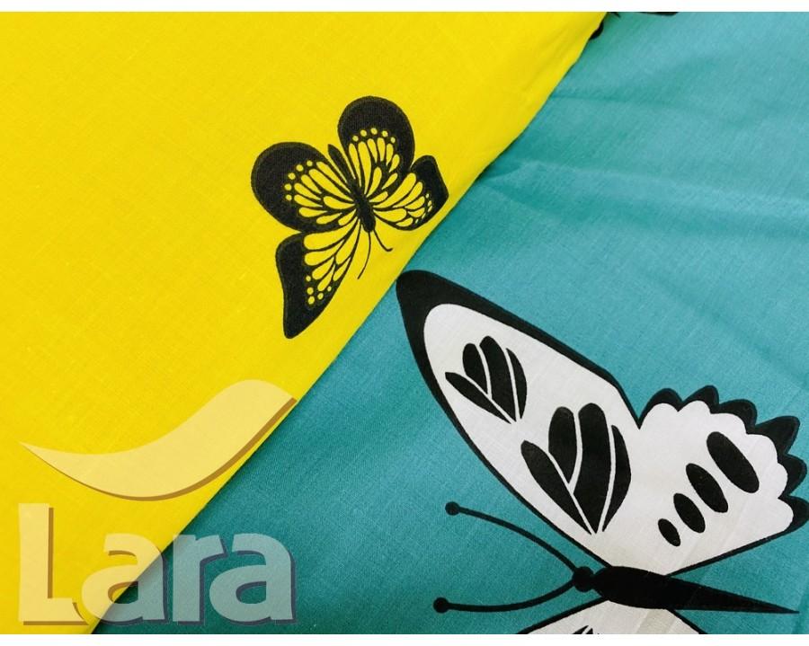 Постельное белье LARA ранфорс d12016p полуторное 2 наволочки в комплекте