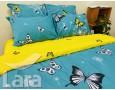 Постельное белье LARA ранфорс d12016d двуспальное 4 наволочки в комплекте