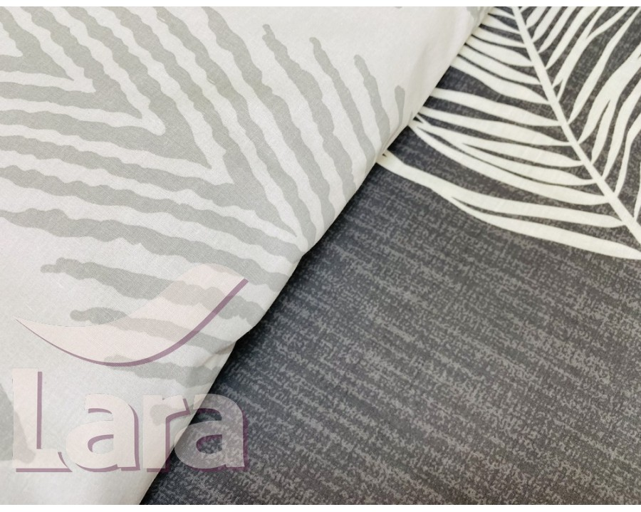 Постельное белье LARA ранфорс d12015d двуспальное 4 наволочки в комплекте