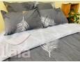 Постельное белье LARA ранфорс d12015s семейное 4 наволочки в комплекте