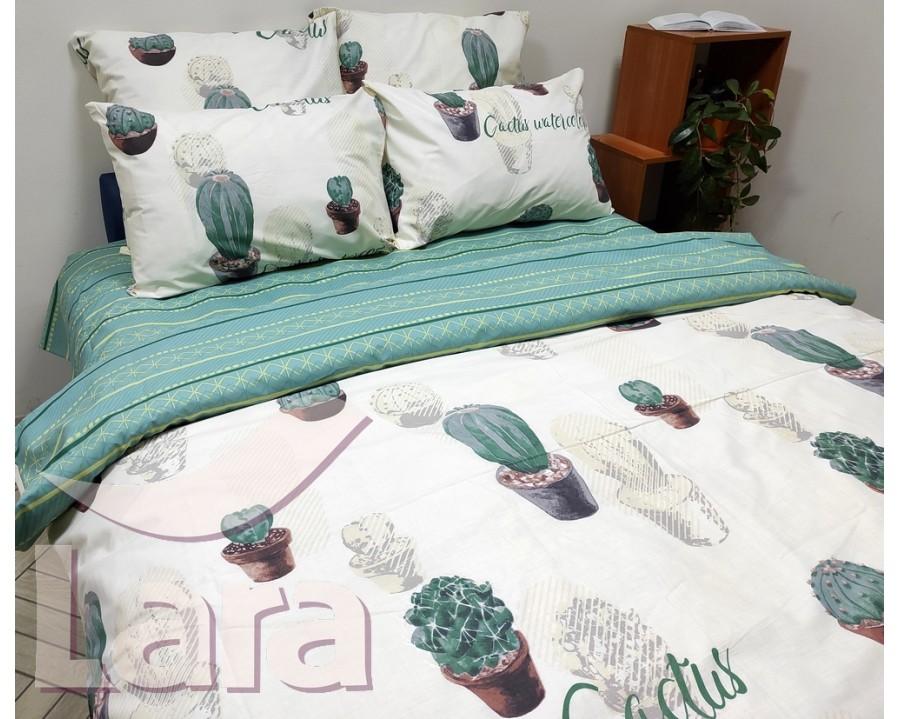 Постельное белье LARA ранфорс d12012s семейное 4 наволочки в комплекте