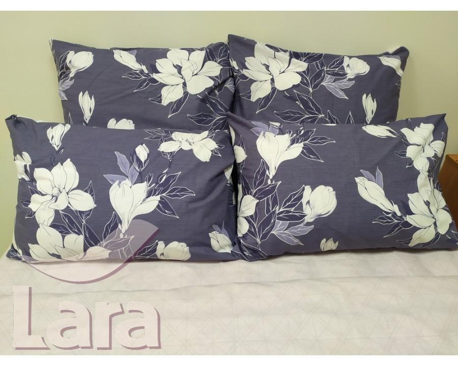 Постельное белье LARA ранфорс d12011e евро 4 наволочки в комплекте