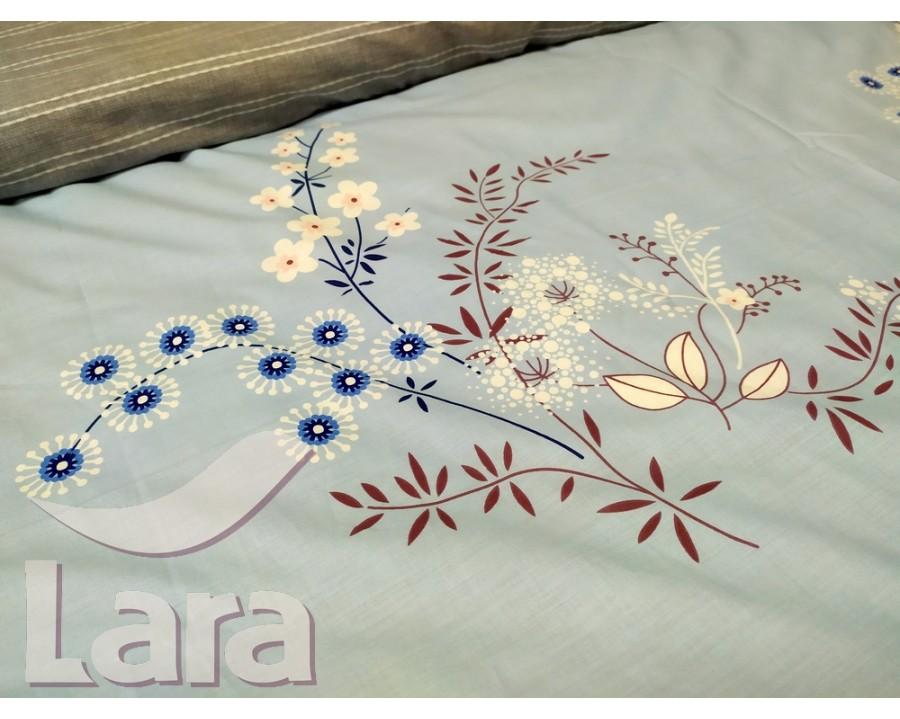 Постельное белье LARA ранфорс d12010p полуторное 2 наволочки в комплекте
