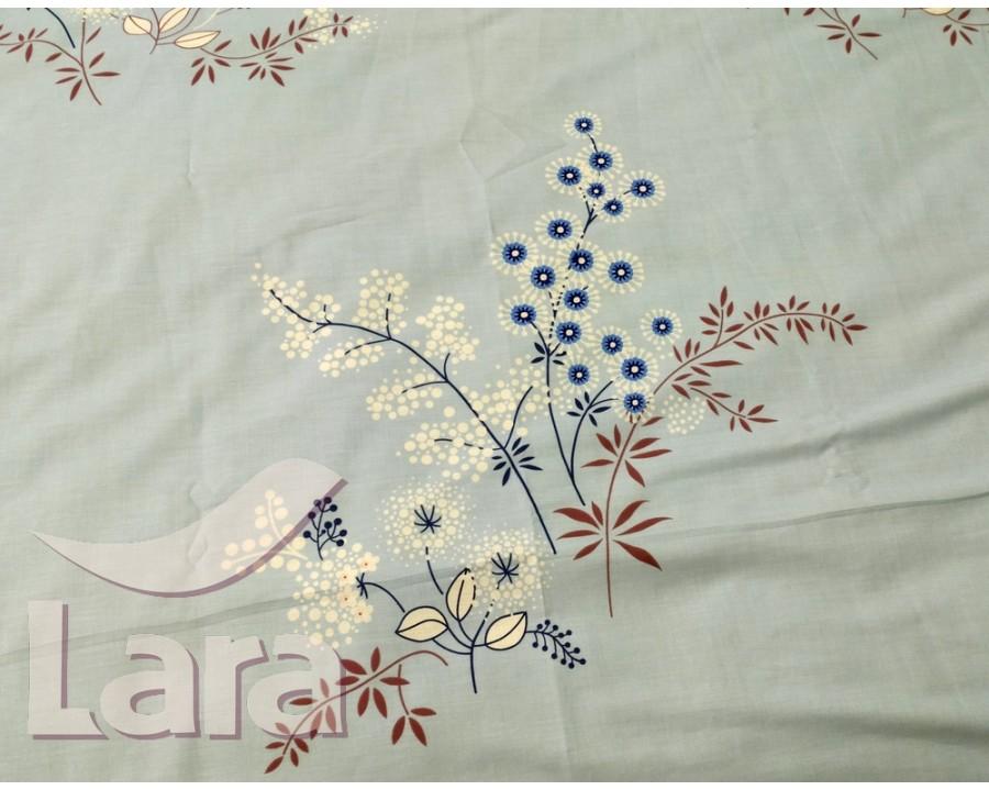 Постельное белье LARA ранфорс d12010e евро 4 наволочки в комплекте